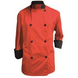 Chaqueta de Chef Combinada Unisex de manga larga con botones, puños y cuello de color negro y doble bolsillo termómetro fabricada en tejido de sarga.Composición: 65% poliéster y 35% algodón.  Diferentes Tallas y Colores.  http://www.ilvo.es/2245-chaqueta-chef-combinada.html