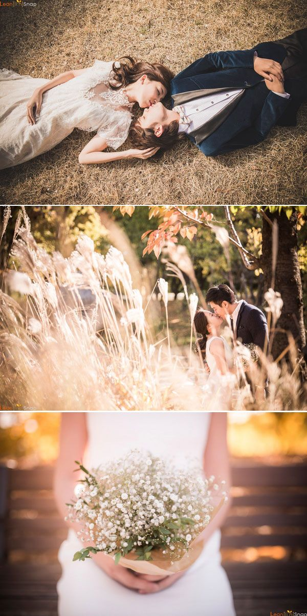 Fall wedding photo shoot in Korea