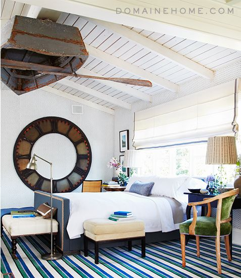 Bravo's Million Dollar Decorators stars Jeffrey Alan Marks shares European traditional meets modern meets Hamptons bedroom.