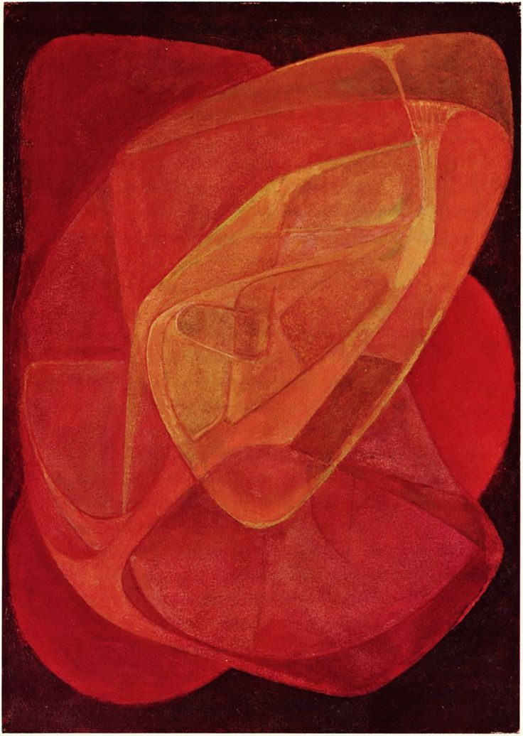 Naum Gabo ~ Red Kinetic Painting, 1943