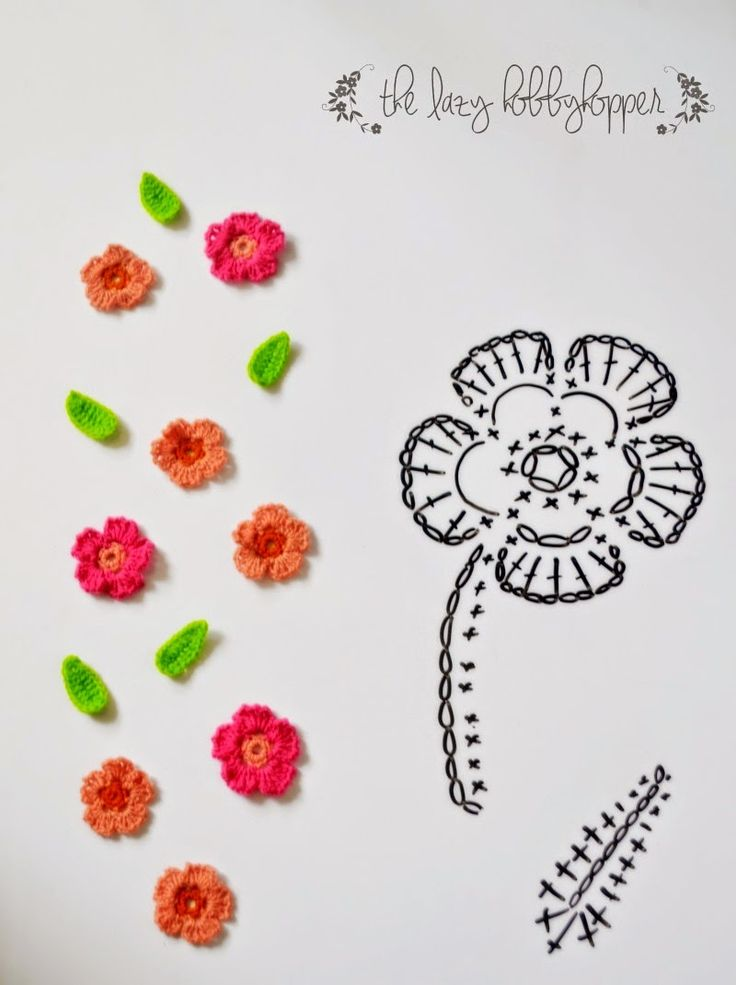 The Lazy Hobbyhopper: Pretty little flowers - free pattern