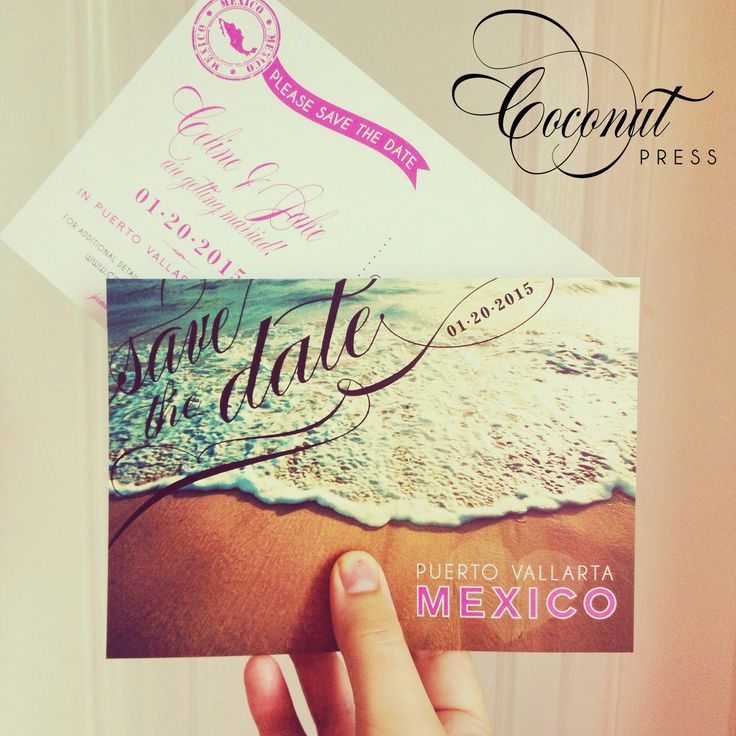 Save-the-Date Post Cards // Destination Wedding // Coconut Press