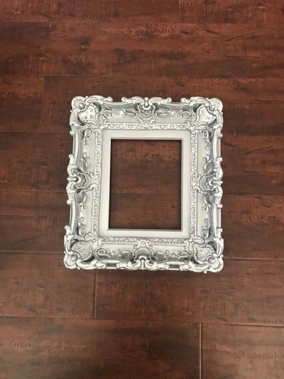 8x10 Silver Frame Style Baroque Frame Picture Frame Art Etsy Baroque Frames Small Picture Frames Picture Frame Art