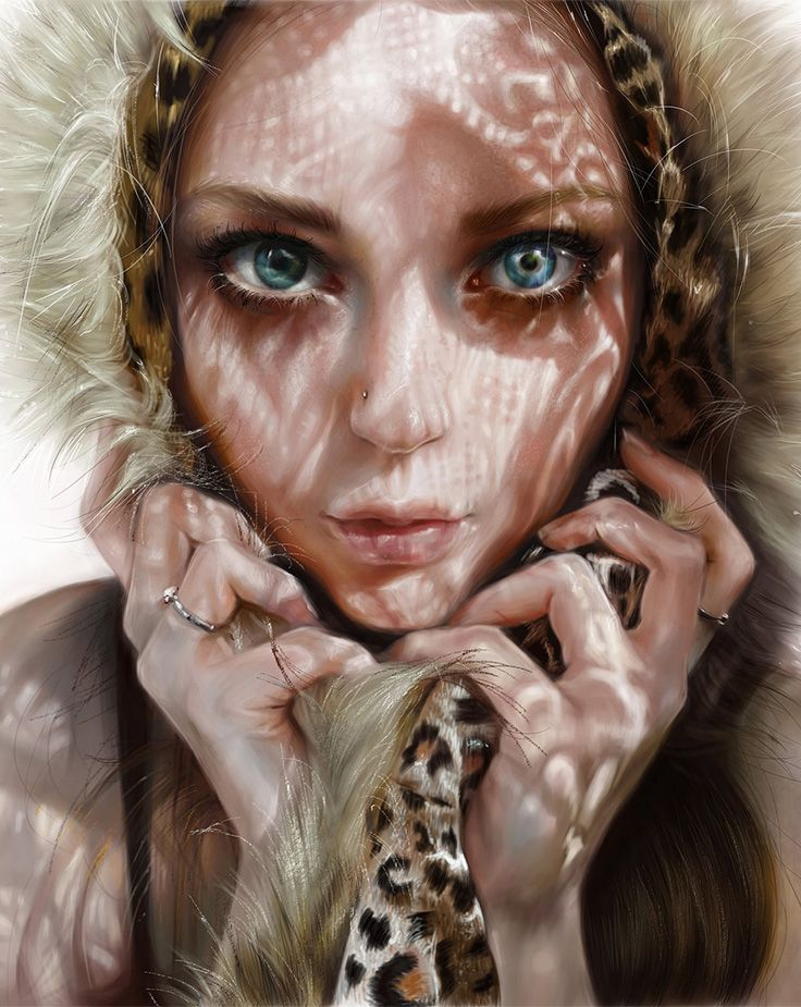"""Day"" - Elena Sai {figurative art beautiful female head woman face cropped digital painting #loveart} elenasai.deviantart.com"
