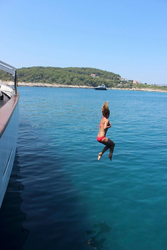 Swim off #VarietyCruises #yachts in secluded bays and uninhabited islands. Courtesy of Edita V., Adriatic Odyssey #cruise guest #Travel