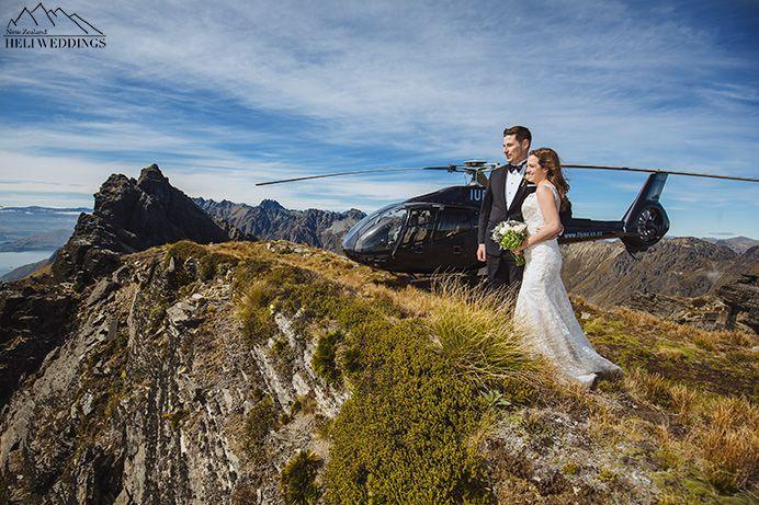 Wedding photography. Bride & Groom wedding day. Queenstown New Zealand