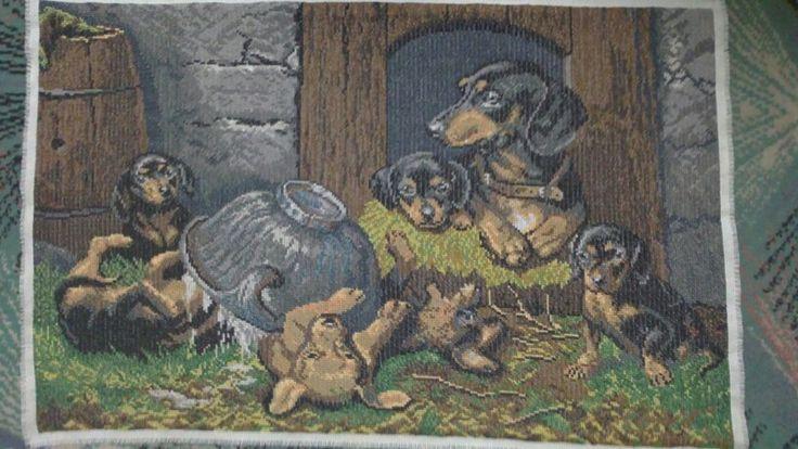 Cross stitch haft krzyżykowy psy