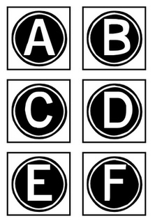 Printable Letters - boggle board & boggle board score sheet!
