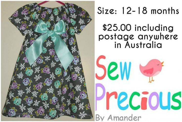 Handmade by Sew Precious By Amander Peasant Style Spring Dress
