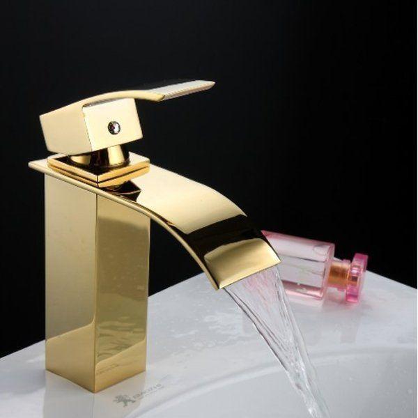 Torneira Misturador Monocomando Banheiro/Lavabo Prime Dourada - Premierdecor