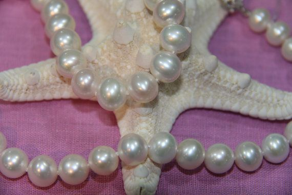 8-9 mm natural pearl necklacewhite Pearl NecklacesFreshwater