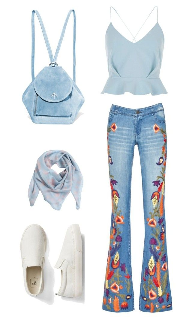 merve 1 by ilaydaozer on Polyvore featuring moda, River Island, Alice + Olivia, Gap, MANU Atelier and Alexander McQueen