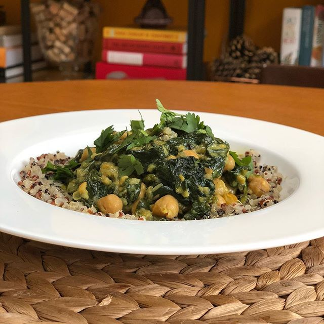 Chickpea coconut and spinach stew for lunch with quinoa! #HomeMade #MangiaBene #TalesFromNW
