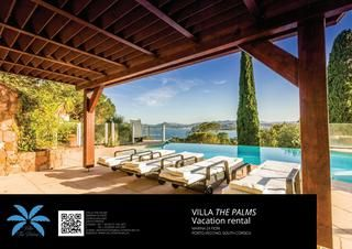 Villa The Palms Marina di Fiori - brochure summer 2017  The Villa The Palms is a large vacation rental villa which can accommodate 8 persons. it has 4 bedrooms, 4 bathrooms.  A swimming pool, jacuzzi, pool house, barbecue area. A/C throughout.  Visit http://villathepalms.ch for availabilities and rates. The Villa The Palms is located in the private residence of Marina di Fiori in Porto-Vecchio (South Corsica).  #Corsica #CorsicaTravel #CorsicaRental #CorsicaVillaRental #VillaThePalms…