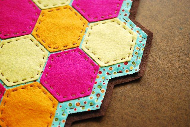 project: hexagon lemonade coaster