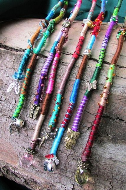 Long hairwraps pre-made and platted into the hair or clipped in for a less permanent fixture...also visit www.enchanted-creations.co.za