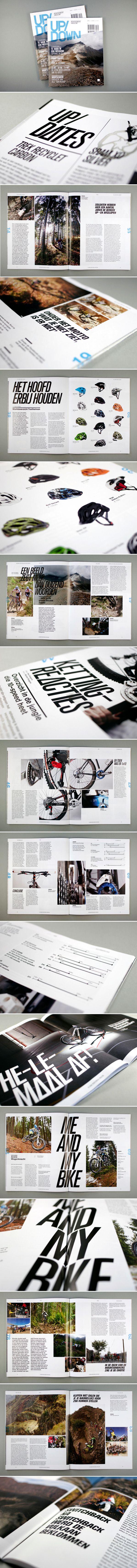 Up/Down Mountainbike Magazine by OK200 , via Behance