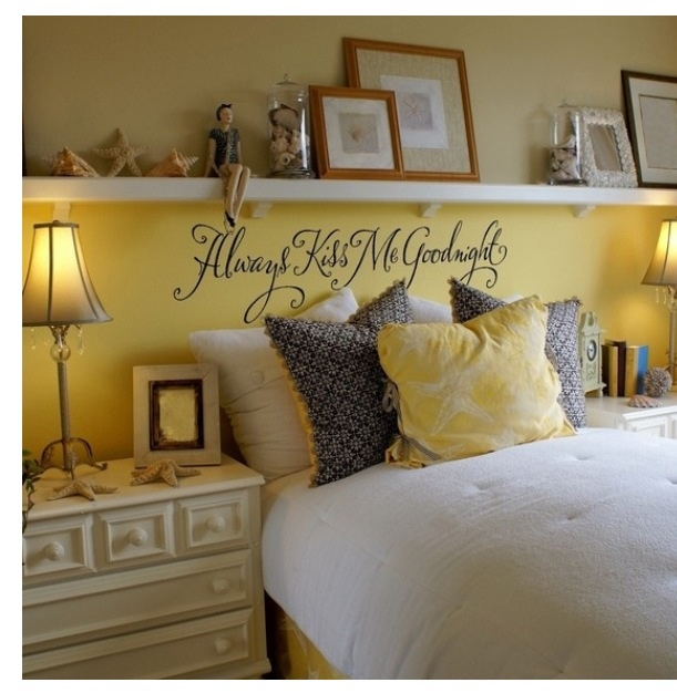 Yellow and bright beachy bedroom