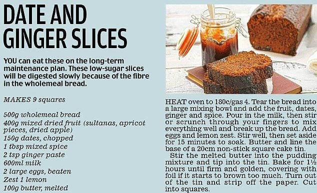 Have a slice: These date and ginger slices will be digested slowly - making you feel fuller for longer