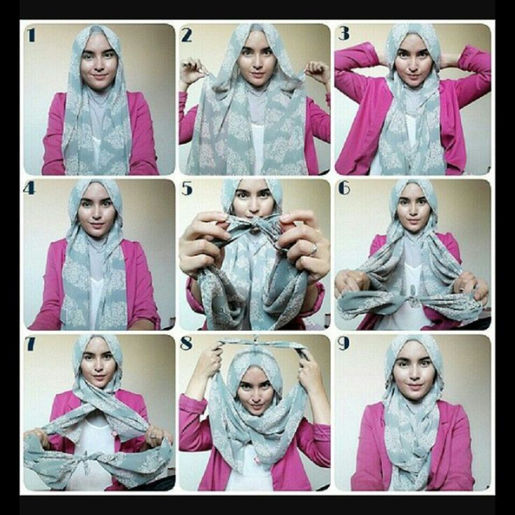 Step-by-step hijab style