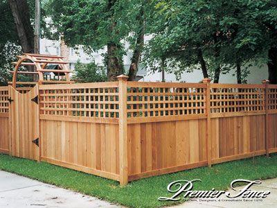 unique wood frnce ideas | Wood-Privacy-Fence-Lattice-Works-Custom