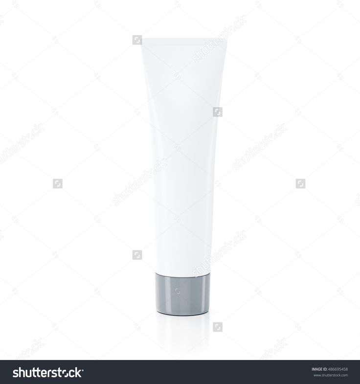 White With Gray Cosmetic Tube Mock Up 3d Rendering Illustration - 486695458 : Shutterstock