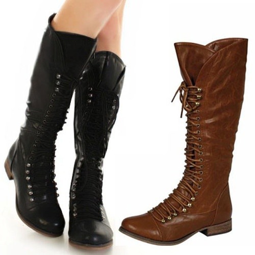 Tall Combat Boots Women - Boot Hto