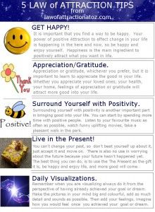 Here are My Top 5 Law of Attraction Tips. Enjoy the Rest of Your Day;-)