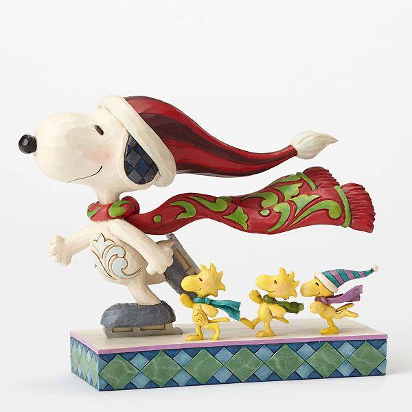 Peanuts - Snoopy, Woodstock and Friends - Skate Mates - Jim Shore - World-Wide-Art.com