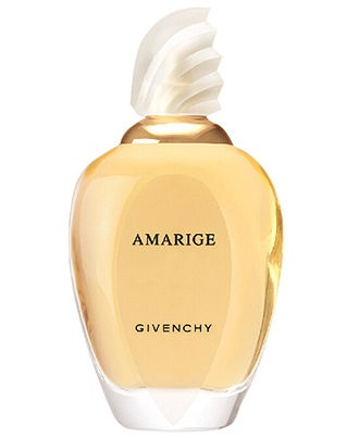 Amarige for Her Eau de Toilette Spray, 3.4 oz. A marriage of neroli, mandarin and violet top notes, a blooming heart of gardenia, mimosa and ylang-ylang and finally tender notes of precious wood, ambergris, musk and vanilla.