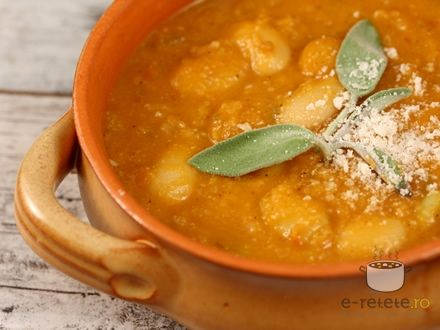 Supa toscana de fasole. Imagini pas cu pas pentru supa toscana de fasole