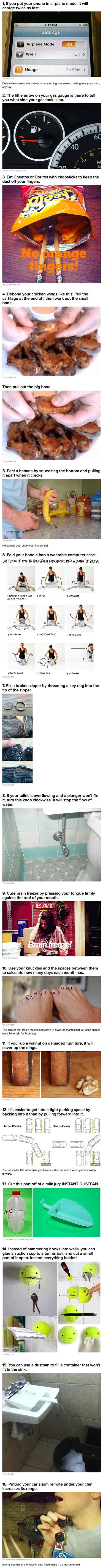 16 Extremely Simple Life Hacks That Will Make Life Easier - TechEBlog