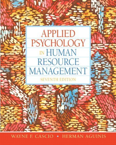 Human Resource Executive And: Applied Psychology In Human Resource Management (7th