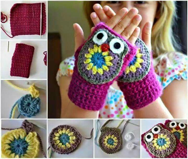 98 best Guantes, manoplas, mitones a crochet. images on Pinterest ...