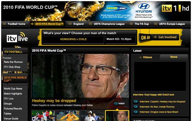 The Best Website Designs of the 2010 World Cup   Webdesigner Depot