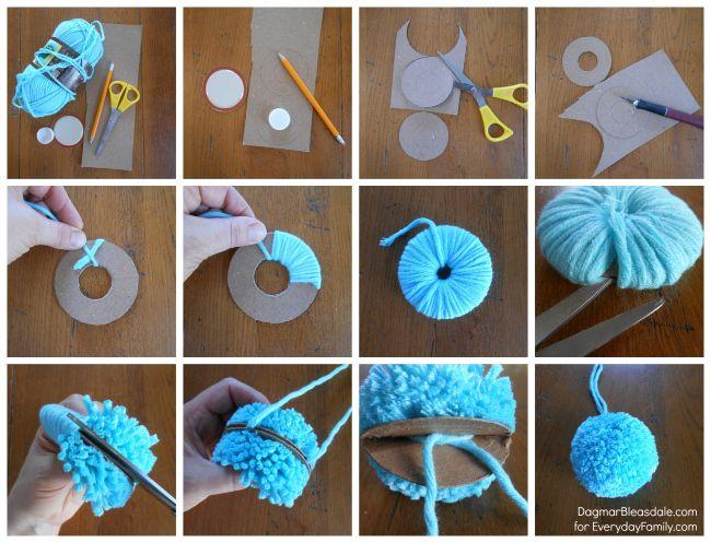 25 best ideas about yarn pom poms on pinterest pom pom diy pom pom tutorial and pom poms. Black Bedroom Furniture Sets. Home Design Ideas