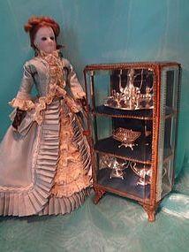 Miniature Beveled Glass Showcase http://www.dollshopsunited.com/stores/jackieeverett/items/1271757/Miniature-Beveled-Glass-Showcase #dollshopsunited