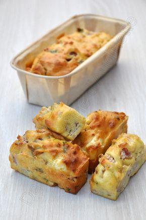 Gâteau au yaourt salé aux lardons et feta - Dans la cuisine d'Audinette