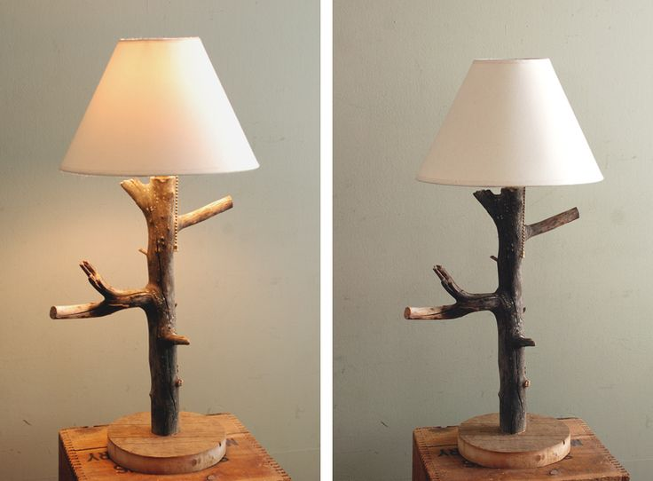 You won't beLEAF how cute this #repurposed branch #lamp is! Check out the #DIY #tutorial!