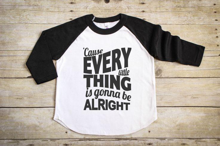 Bob Marley Shirt - Song Lyric shirt - Gifts for Kids - Hipster Kids Clothes - Raglan T-Shirt - Baseball Tee - Cool Kids Clothes - Baby Shirt by PineapplePancakeKids on Etsy https://www.etsy.com/listing/465389723/bob-marley-shirt-song-lyric-shirt-gifts