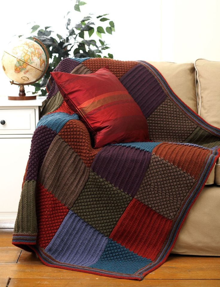 Yarnspirations.com - Bernat Harvest Blanket  - Patterns  | Yarnspirations