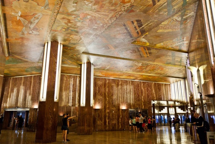 Reason 127 edward trumbull 39 s transport and human for Chrysler building lobby mural