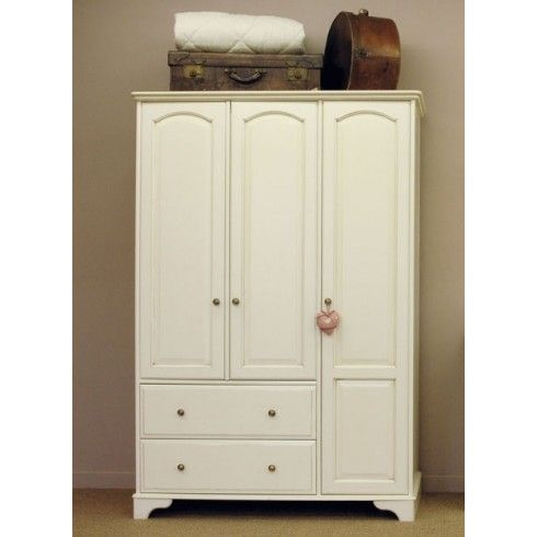 Buy Chateau Painted Furniture Triple Wardrobe With Drawers Online from Oak Furniture House