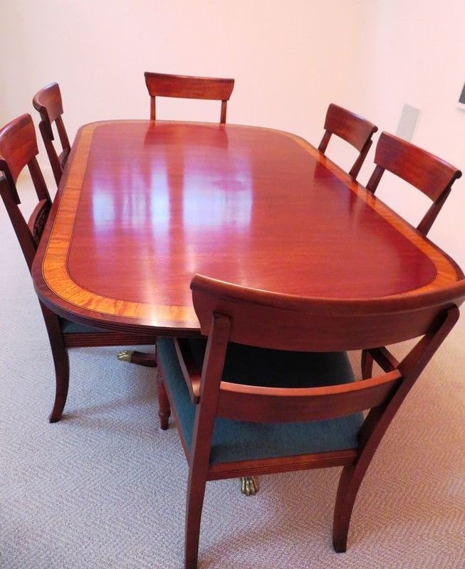 Fine Stunning Ethan Allen Cherry Dining Room Table With Tiger Unemploymentrelief Wooden Chair Designs For Living Room Unemploymentrelieforg