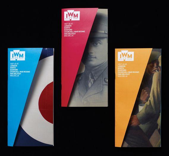 Broshures of Imperial War Museums.Editorial Layout, Brochures Iwm, Imperial Wars, Broshure Design, Graphics Design, Hats Tricks, Wars Museums, Bright Colors, Brochures Design
