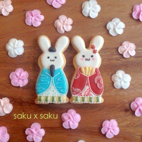 Rabbits 『*ひな祭り*うさぎのアイシングクッキー*』