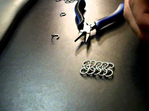 Video: How to make European 4 in 1 chainmaille #Wire #Jewelry #Tutorials