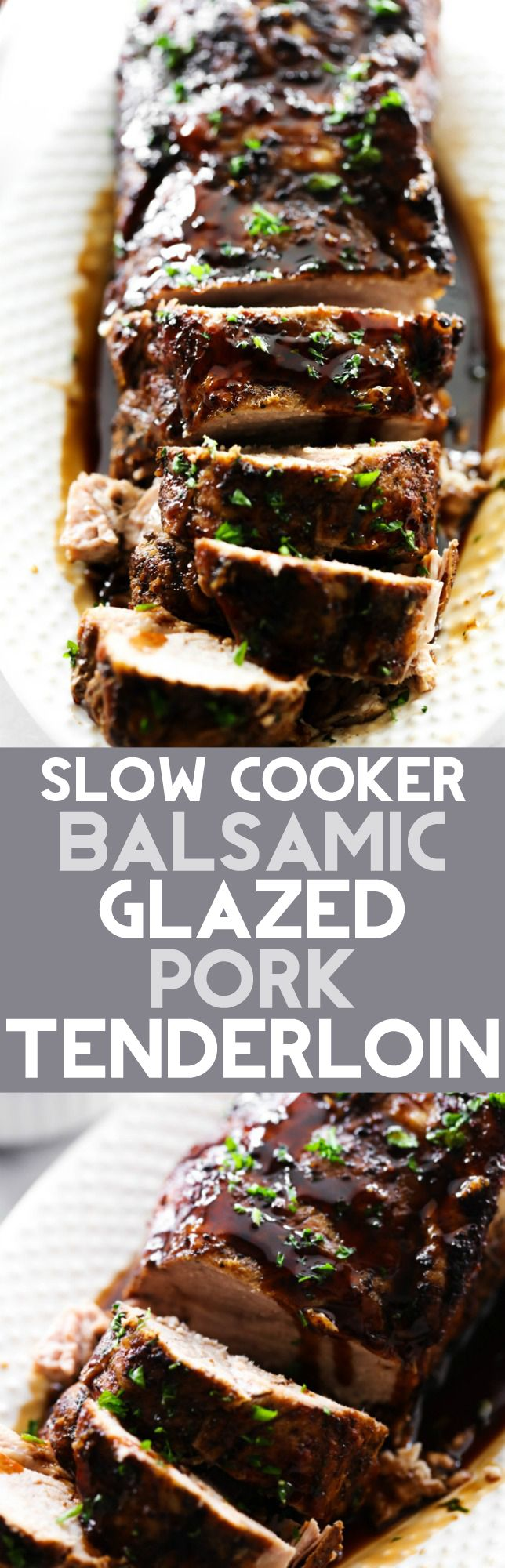 This Slow Cooker Balsamic Glazed Pork Tenderloin is out of this world! The glaze will be one of the best things you ever eat! This recipe tastes like something you would order at a fancy restaurant. It is definitely a new family favorite.