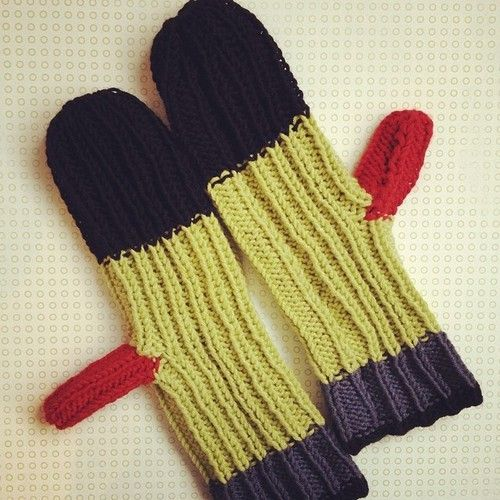 multi-coloured Mittens by: Marc