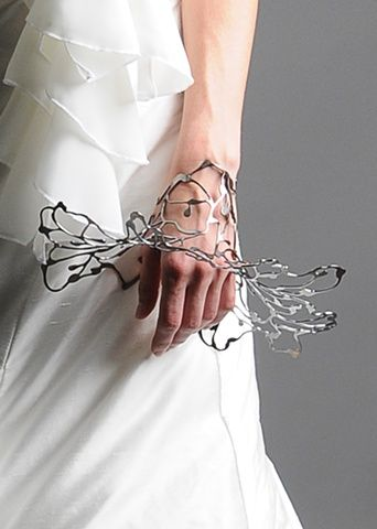 Sculptural Bangle with intricate cutouts; contemporary jewellery design; wearable art // Cheryl Eve Acosta